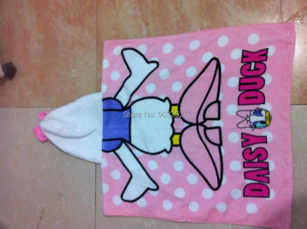 Детский банный халат с капюшоном и изображением животных; детский банный халат с героями мультфильмов; Детские Банные полотенца