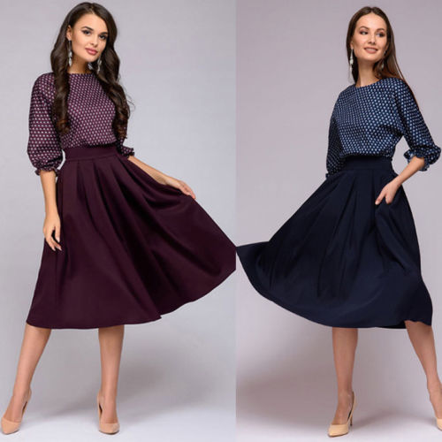 e32e34a3d08 Женское винтажное платье с рукавом три четверти в горошек