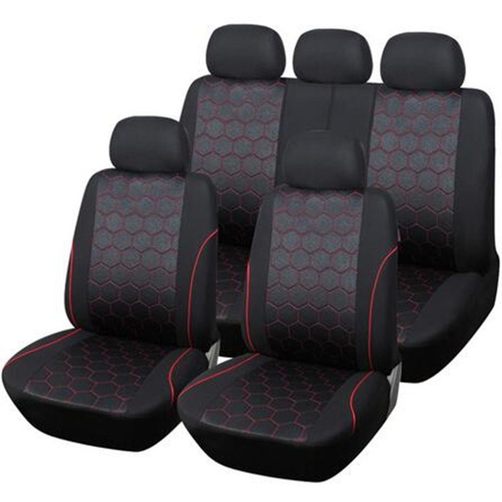 HIGH QUALITY Polyester 800g detachable head restraints Hexagon Style Auto Car Accessories Interiors Seat Cover Support Universal