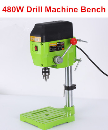 Mini Drill Press Bench Small Drill Machine drilling Work Bench speed adjustable EU plug 480W 220V BG-5166A mini electric drilling machine variable speed micro drill press grinder pearl drilling diy jewelry drill machines 5168e
