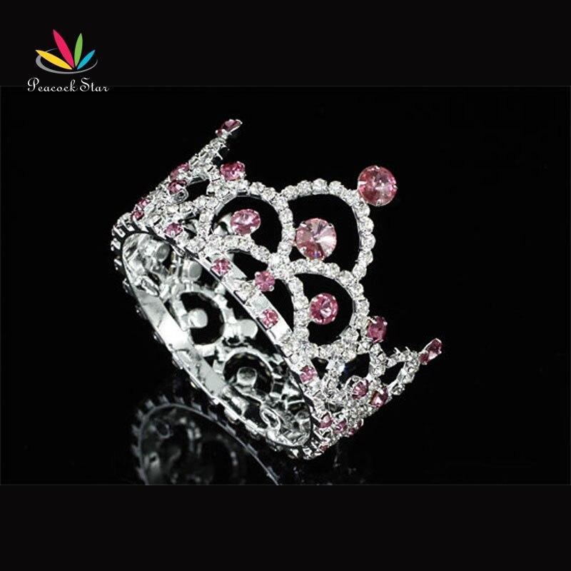 New Born Baby Mini Crown Tiara Photo Prop Crystal Full Circle Round CT1814