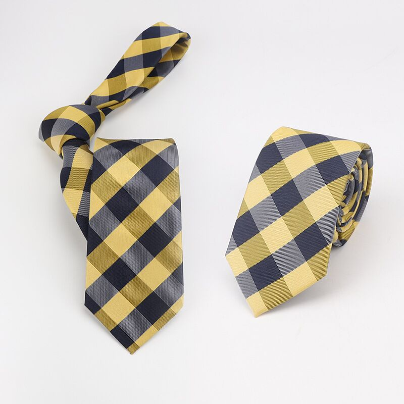 7CM Plaid  Tie  Ties For Men Casual  Gravata Necktie