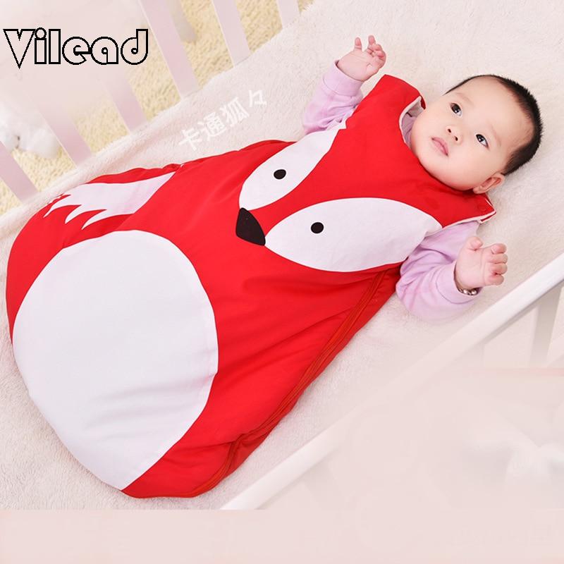 Baby Sleeping Bags For Children Cocoon Envelopes Newborns 0-3years Panda Fox Cotton Summer Winter Bag Shark