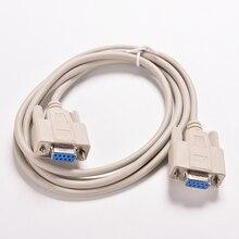 1PC 5ft F/F szeregowy RS232 Null Modem kabel żeński do żeńskiego DB9 FTA połączenie krzyżowe 9 Pin COM konwerter do kabla danych PC akcesoria