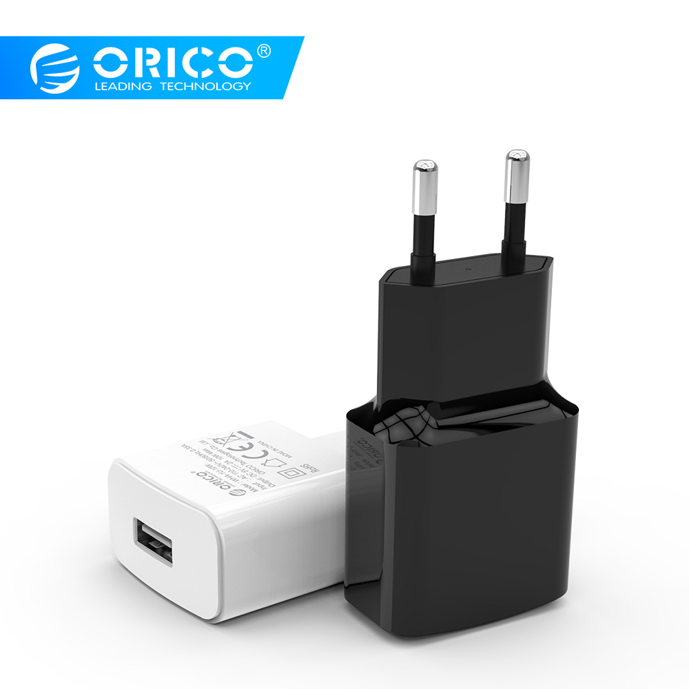 ORICO 5V1A 5V2A Universal USB Charger Travel Wall Charger Adapter Smart Mobile Phone Charger EU UK US Plug Black White Available Зарядное устройство