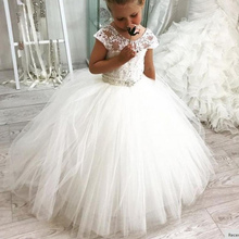 New Lace Flower Girl Dresses For Weddings Vestidos daminha Kids Evening Gowns First Communion Dresses For Girls knee length flower girls dresses for weddings tulle kids evening gowns a line mother daughter dresses for girls with hade make