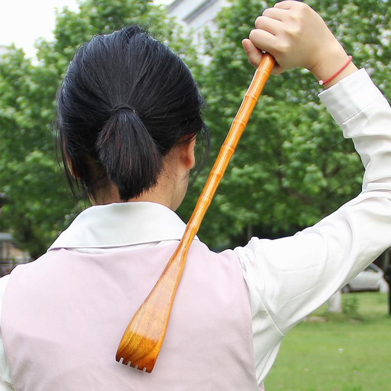 Wooden Body Relieve Massager Back Scratcher  Portable Scratching Back Scraper