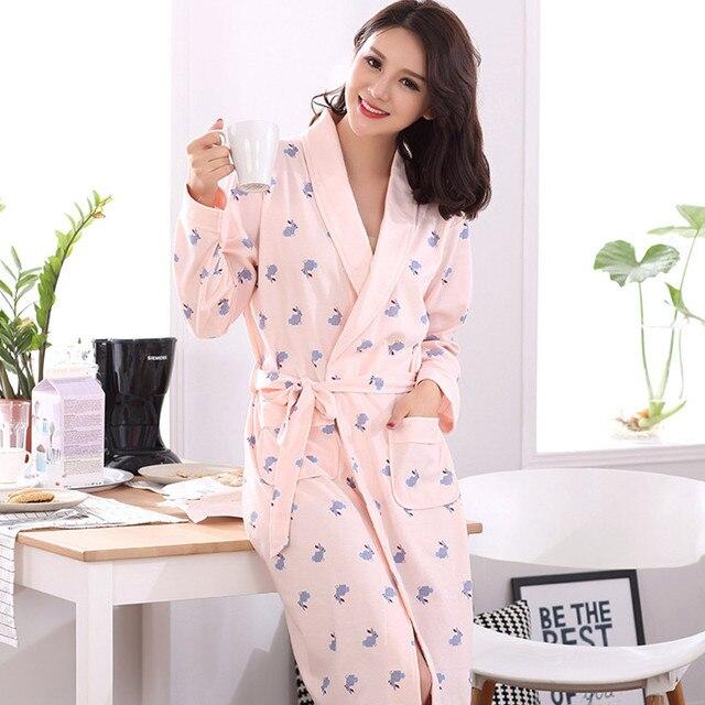 Осень Хлопок Полный Рукав женские Халаты Пижамы Кимоно Pijama роковой Пижамы Сексуальные Халат Ночные Сорочки feminio Плюс Размер XXXL