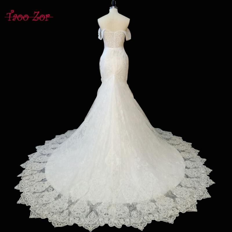 Amdml vestidos دي novia الحبيب الرقبة حورية - فساتين زفاف