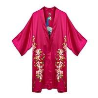 100% Silk Satin Dress Natural Mulberry Silk Women Dresses Home Dress Handmade Painting Dress Pink Flower Pattern