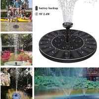210L/H Fuente Solar estanque piscina jardín peces Baño de pájaros bomba de agua fuente flotante 9V 2,4 W Panel Solar fuentes de agua Decoración