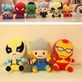 Плюшевые малыш игрушки шесть супергерои 18 см бэтмен человек паук, Супермен мягкая фаршированная завод тв игрушки в фигурку подарок для детей K30017