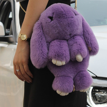 Cute Rex Rabbit fur Bags for girl one Shoulder Bag Multifunctional Bagpack for women Lolita Bags Funny Crossbody Bag