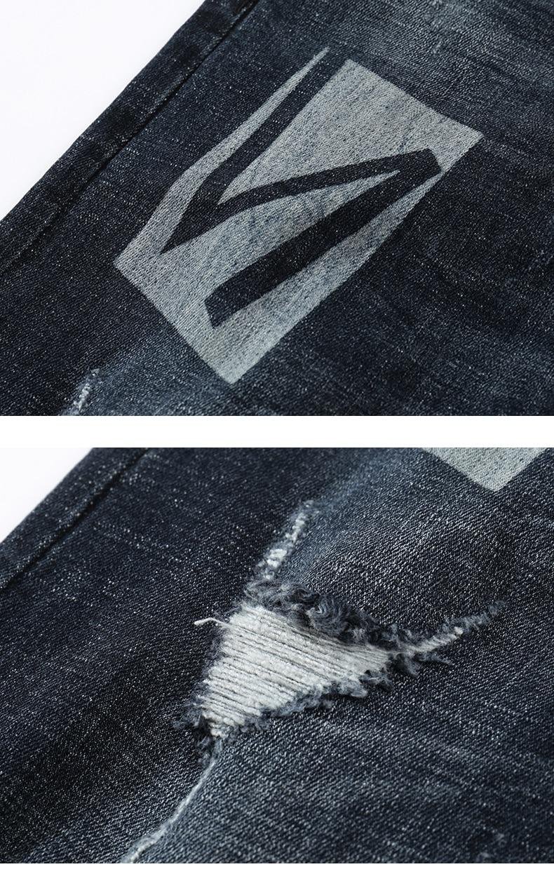 KSTUN Skinny Jeans Men Winter Jeans Dark Blue Ripped Biker Jeans Stretch Hiphop Handsome Cool Denim Trousers Damaged Man Jeans 15
