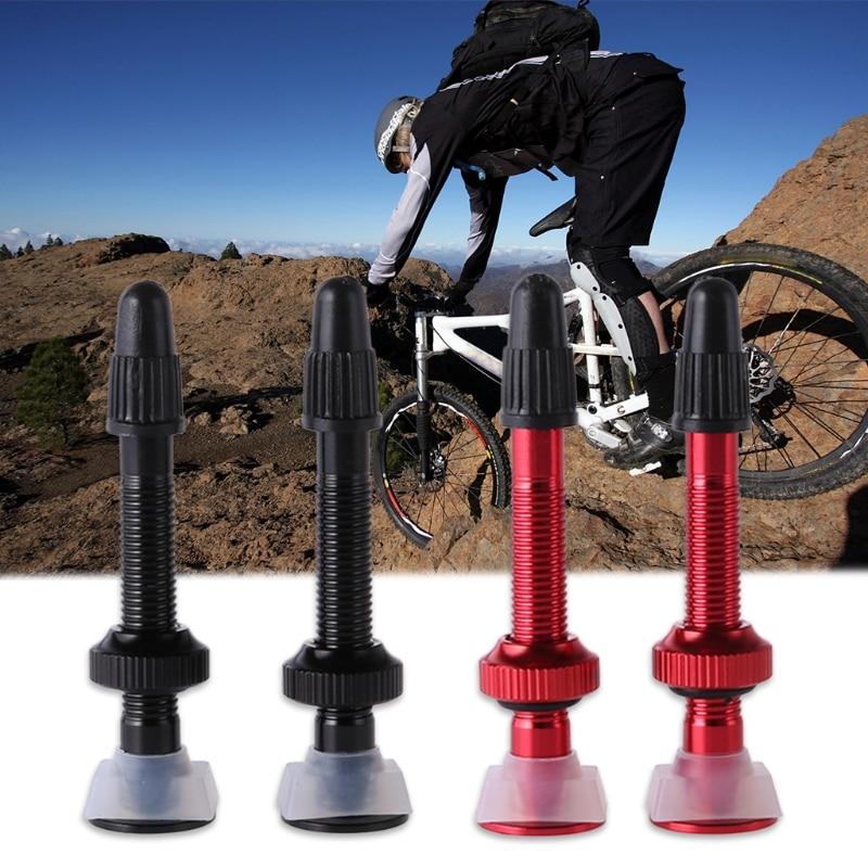 QILEJVS 2 pcs Bicycle Valve Presta Core Ultralight French Aluminum Alloy MTB Road Bike