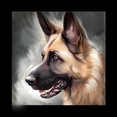 GERMAN SHEPHERD dog ORIGINAL art TOP pop art oil painting 24 inch art painting # TOP animal Decor OIL ON CANVAS
