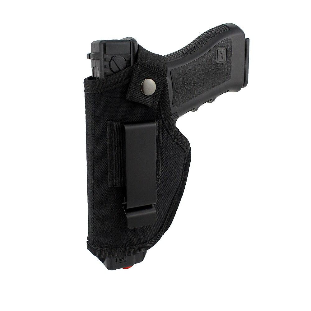 Verdeckte Trage Holster Metall Clip IWB OWB Holster Bund Airsoft Pistole Handguns Holster Für Rechts Links Hand Zeichnen