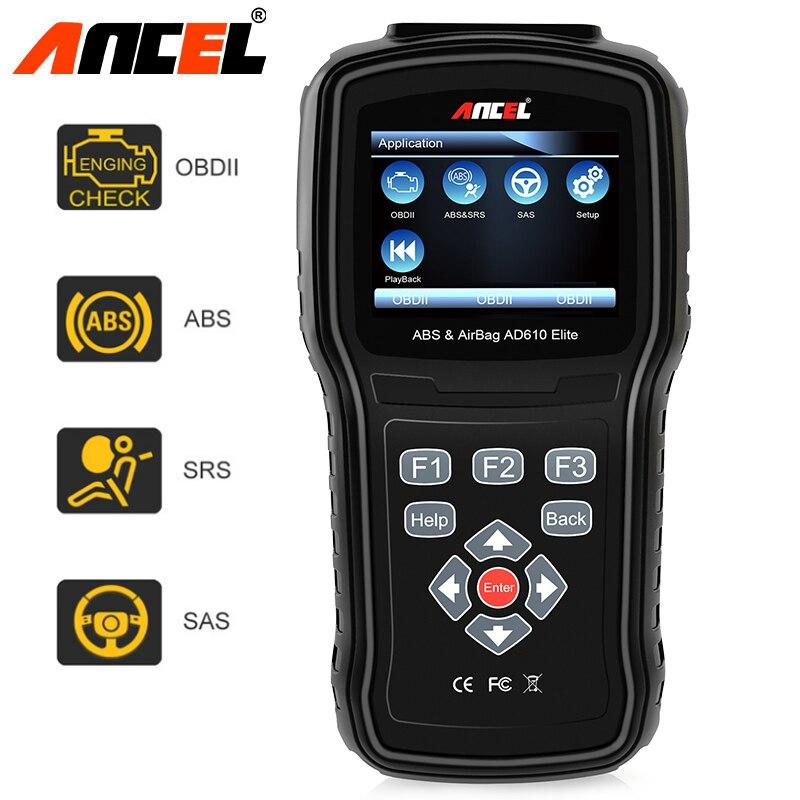 D'origine Ancel OBD2 Scanner AD610 Pro ABS SAS Airbag Outil De Diagnostic ODB Automobile Scanner Multi Langues voiture avec Diagnostic embarqué Diagnostics