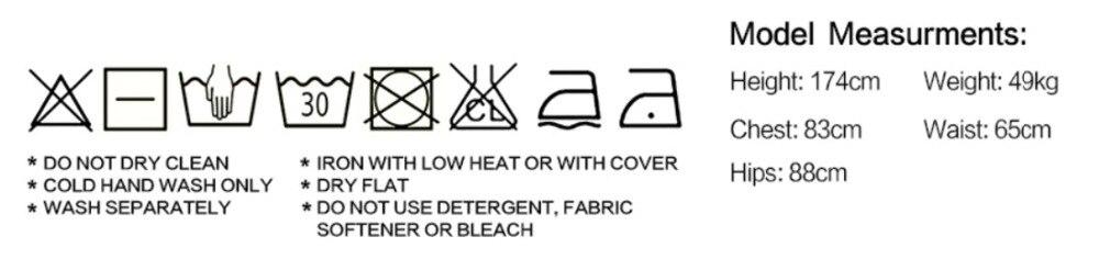 尺码洗衣标