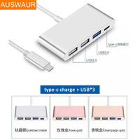 Type C 4-Port USB 3.0 Hub OTG Charger Kabel Adapter voor LE LETV Mobiele Telefoon Notebook Type-C PD Adapters
