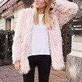 Fashion Faux Fur Coat Women Fluffy Warm Long Sleeve Female Shaggy Jacket Outerwear Autumn Winter Coat Fur Fourrure Overcoat W0