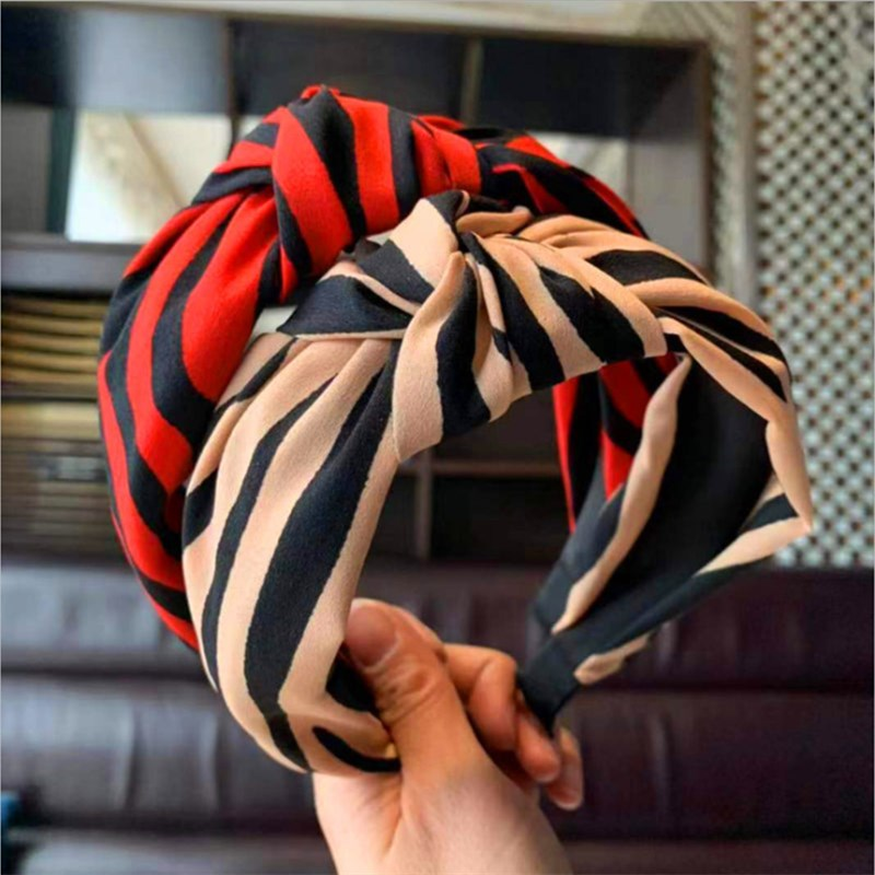 New Fashion hair accessories women's fabric stripes knotted wide-brimmed headband sweet Wild headband Girl's hair band   headwear