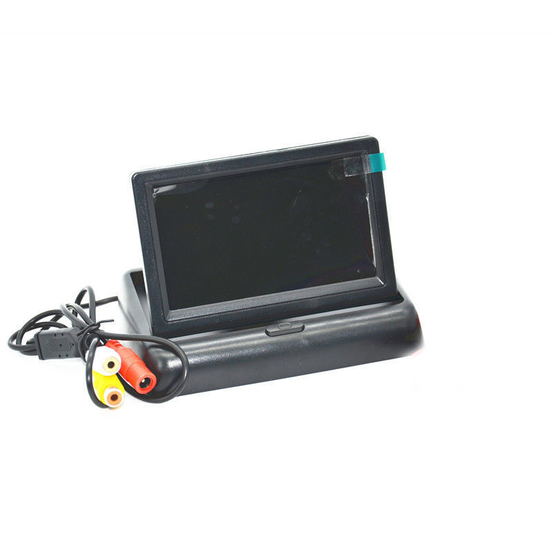 Foldable 12V Video Reversing Image <font><b>4.3</b></font> <font><b>Inch</b></font> Car <font><b>Monitor</b></font> Folding Vehicle Display LCD High Definition LCD General Vehicle Display image