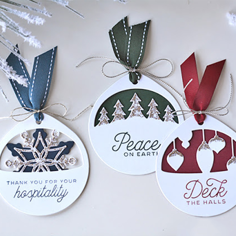Naifumodo Christmas Tag Dies Metal Cutting Dies For DIY Scrapbooking Bookmark Die Cut Cards Making Stencil Craft Dies New 2019