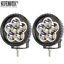 2Pcs 3.5 Inch 18W Led Work Light 12V For Car 4x4 Offroad Motorcycle ATV Tractor Truck Boat Spot Beam Driving Lights Working Lamp 10pcs 4inch 48w led work light lamp for car 4x4 atv led working lights truck 12v driving fog spotlights tractor offroad lights