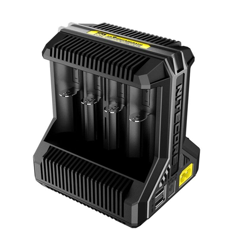 1 PC Nitecore I8 Nuevo I4 I2 Cargador Inteligente 8 Total Ranuras 4A Salida Smart Cargador Para Li-ion 18650 16340 10440 AA AAA
