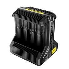 1 PC Nitecore i8 nuevo i4 i2 cargador inteligente 8 Total ranuras 4A salida Smart cargador para Li-ion 18650 16340 10440 AA AAA nitecore d4 d2 i4 i2 digicharger lcd intelligente circuits global verzekering ion 18650 14500 16340 26650 charger