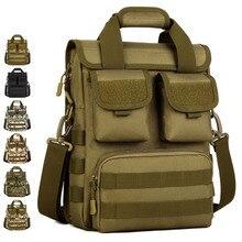 Männer Handtaschen Wasserdichte 1000D Nylon Reise Military Schulter Umhängetasche Aktentasche