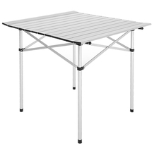 Indoor/Outdoor Portable Folding Table Fishing Picnic Roll Up Square Camping Desk Garden Furniture