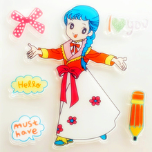 YLCS435 Girl Silicone Clear Stamps For Scrapbooking DIY Photo Album Cards Decoration Craft Transparent Stamp New
