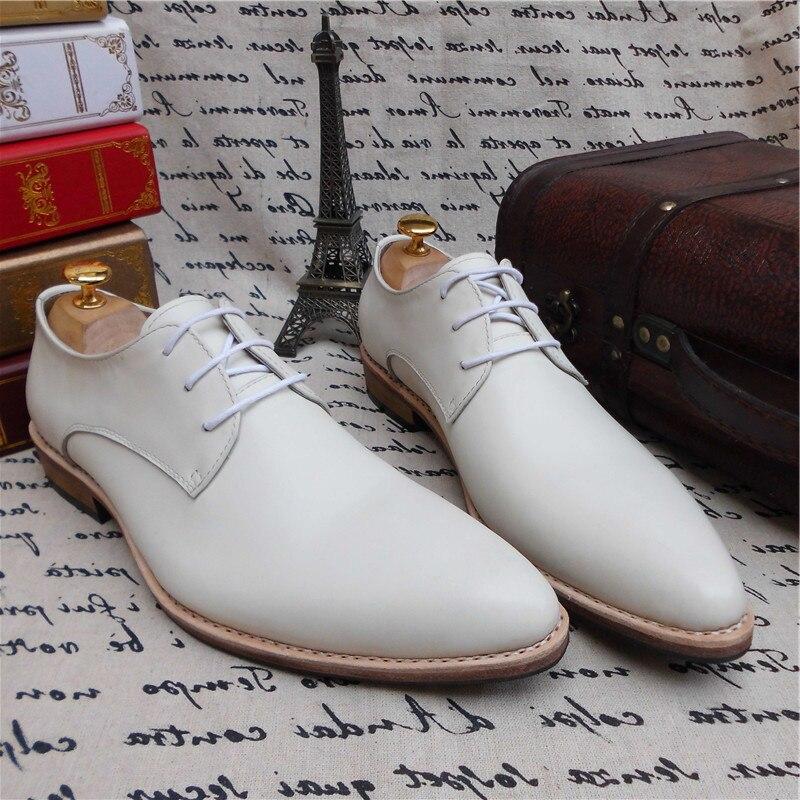 Vestir Welted Zapatos Blanco Los Goodyear A Medida Maloneda Mano Genuino Tamaño Formales Boda Con De Hombres Nuevo Hecho Gran Cuero Color TRnwFqz7