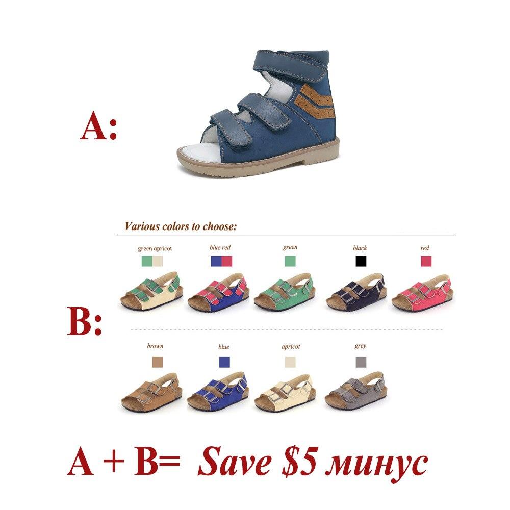 ORTHOFIT Crna Dječja kožna sandala Zatvorena peta Djeca Ortopedske - Dječja obuća - Foto 6