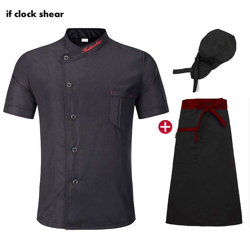 Unisex High Quality Food Service Kitchen Thin Chef Jacket Short Sleeve Work Clothes Chef Restaurant Uniform Chef Coat Summer New