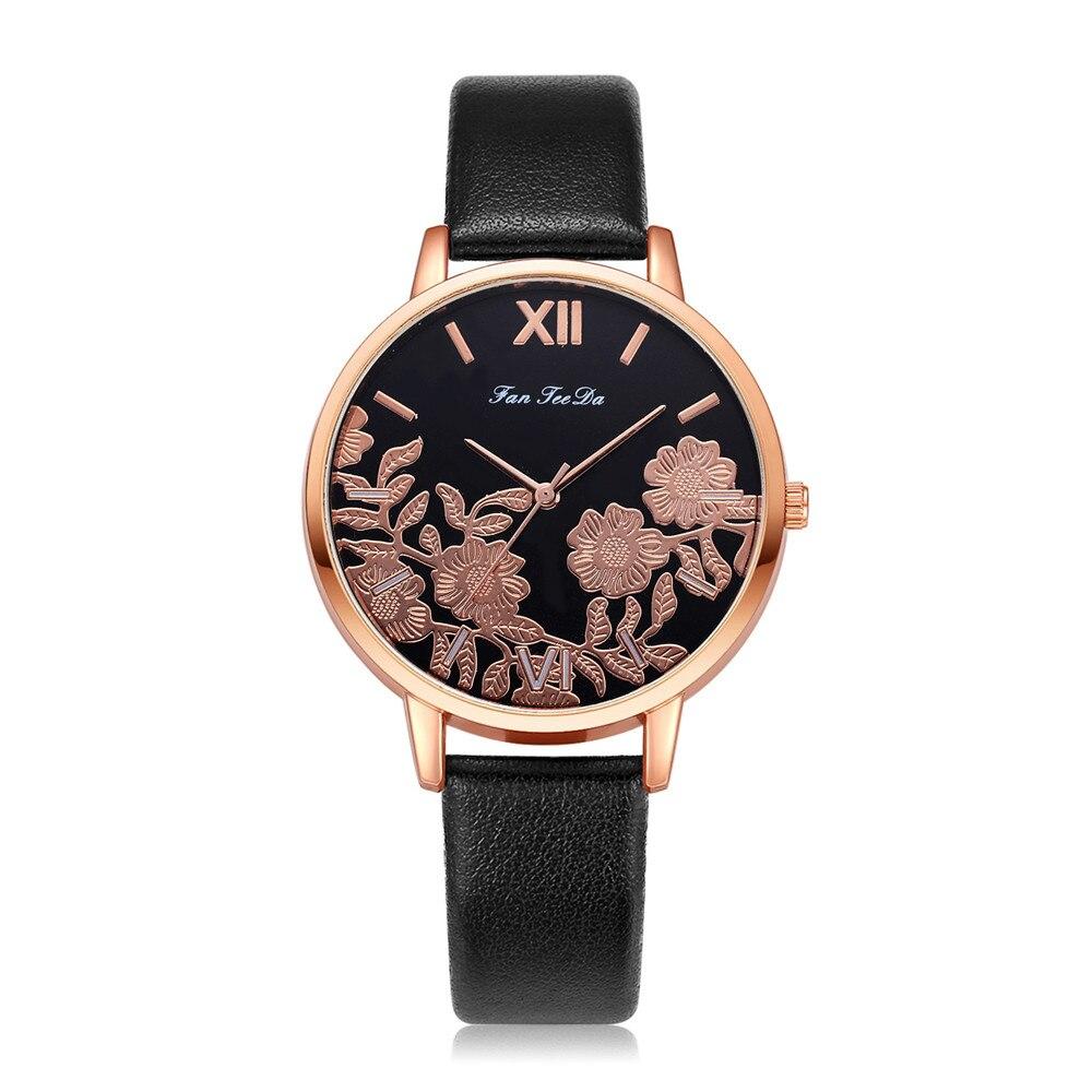 Rose Gold Round Fashion Popular Wristwatch New Arrival Brand New Women Watches Brand Luxury Female Quartz Watch Women Watch 999