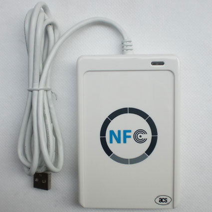 NFC ACR122U RFID USB Port Contactless Smart Card Reader & Writer +5PCS Free RFID Card,Compliance ISO 14443,free shipping usb port em4001 125khz rfid id contactless sensitivity smart card reader support window system