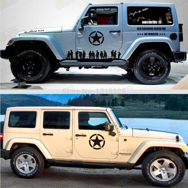 The us army star sticker car whole body decal for jeep toyota ford chevrolet volkswagen tesla