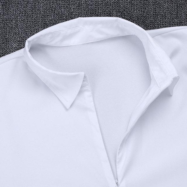 Mens Zipper Latin Shirt with Bowtie One piece Romper Shirt Ballroom Dance Dresses Wear for Men Long Sleeved Bodysuit Shirts
