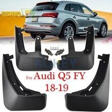 Set Molded Mud Flaps For Audi Q5 FY 2018 2019 Mudflaps Splash Guards Mud Flap Mudguards Fender Front Rear 2017 Accessories