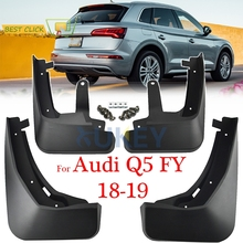 Seti kalıplı çamurlukları Audi Q5 FY 2018 2019 Mudflaps Splash muhafızları çamur flep çamurluklar çamurluk ön arka 2017 aksesuarları