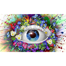 Full Square Drill 5D DIY Magic eye flowers Earth colorful diamond painting Cross Stitch 3D Embroidery Kits home decor H46