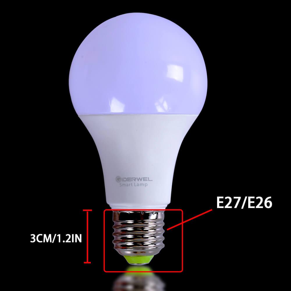 Купить с кэшбэком Smart E27 Bulb Dimmable Music RGBW Smartphone APP Vioce Control WiFi LED Bulb Lamp 60W Compatible With Alexa Plus Google Hub