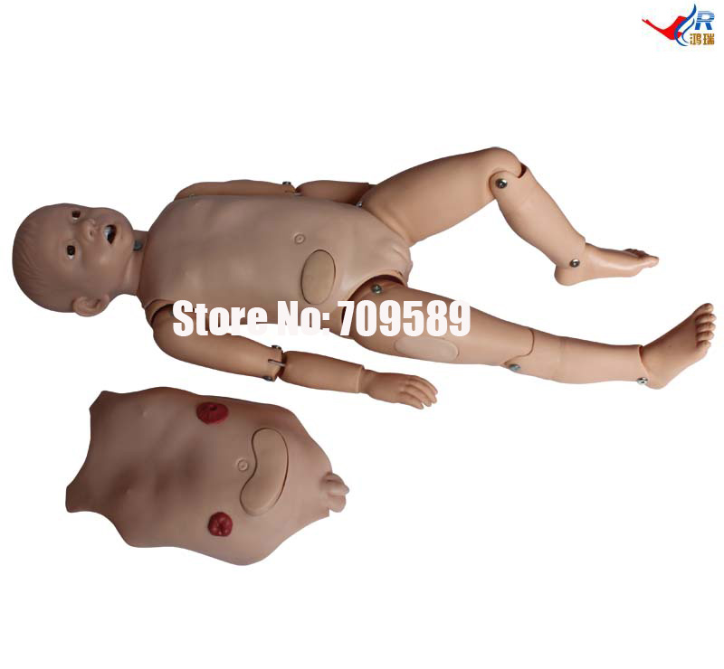 3-Year-Old Child Nursing Training Doll, Baby Nursing Training Manikin bix h2400 advanced full function nursing training manikin with blood pressure measure w194