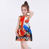 Milan Creations Princess Dress Girl Evening Dress 2016 Summer Party Princess Girls Dress Cute Milan Creations