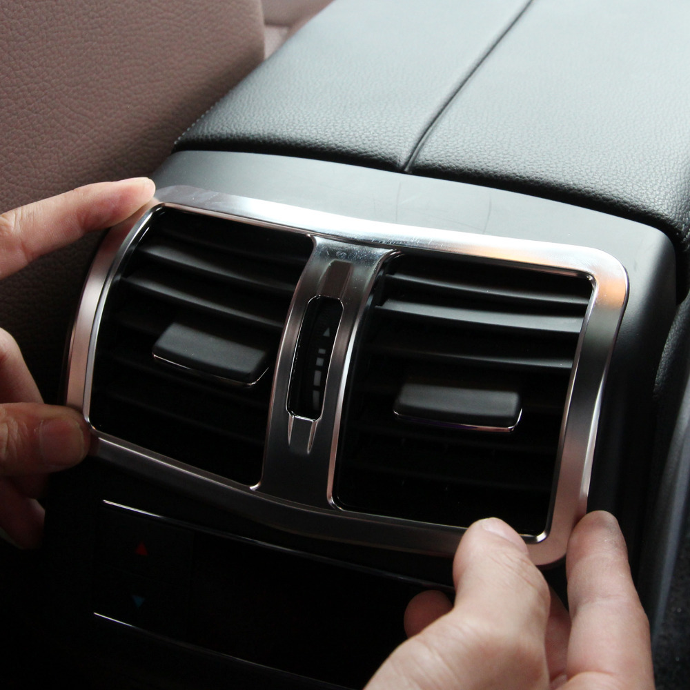 CITALL Интерьер Хромированный подлокотник коробка задний кондиционер вентиляционная крышка отделка воздуха на выходе декоративная для Mercedes Benz W212 E Класс 2013