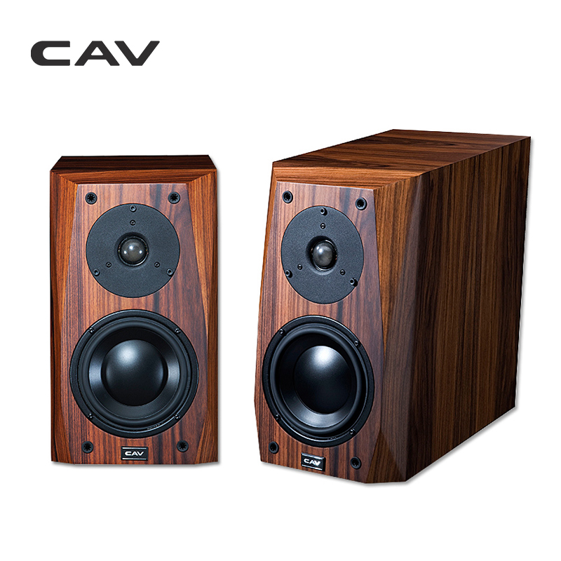 CAV FL-25 Wired HI-FI Speaker High End Bookshelf Wood Veneer Finished AUX Loud Hi-End Speakers For The Computer HIFI Boxes mpsource tena hi end 99 99997