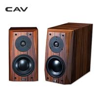 CAV FL 25 Wired HI FI Speaker High End Bookshelf Wood Veneer Finished AUX Loud Hi End Speakers For The Computer HIFI Boxes